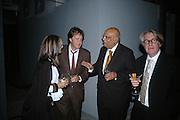 CHERRYL COHEN, SIR PAUL MCCARTNEY, LORD PAUL AND FRANK COHEN. Dinner given by Established and Sons to celebrate Elevating Design.  P3 Space. University of Westminster, 35 Marylebone Rd. London NW1. -DO NOT ARCHIVE-© Copyright Photograph by Dafydd Jones. 248 Clapham Rd. London SW9 0PZ. Tel 0207 820 0771. www.dafjones.com.