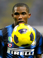 Samuel Eto'o (Inter) <br /> Inter Bologna - Campionato di Seire A Tim 2010-2011<br /> Stadio Giuseppe Meazza, San Siro, Milano, 15/01/2011<br /> © Giorgio Perottino / Insidefoto