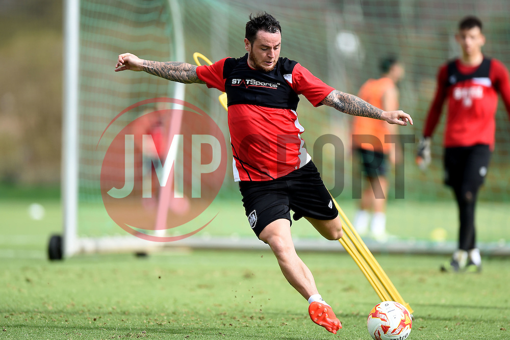 Lee Tomlin of Bristol City shoots  - Mandatory by-line: Joe Meredith/JMP - 19/07/2016 - FOOTBALL - Bristol City pre-season training camp, La Manga, Murcia, Spain