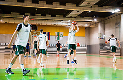 Klemen Prepelic during practice session of Slovenian National basketball team before FIBA Basketball World Cup China 2019 Qualifications against Belarus, on November 20, 2017 in Arena Stozice, Ljubljana, Slovenia. Photo by Vid Ponikvar / Sportida