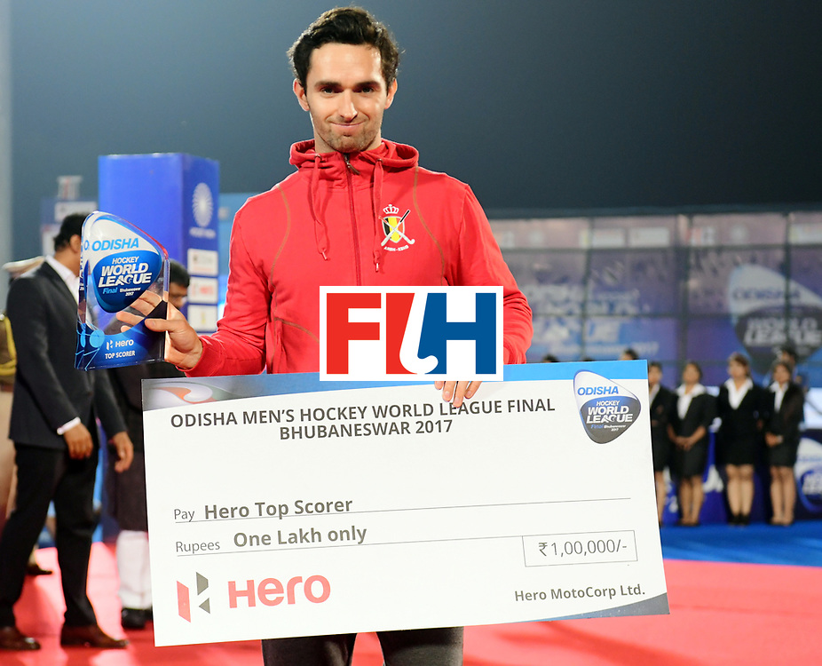 Odisha Men's Hockey World League Final Bhubaneswar 2017<br /> Match id:<br /> Ceremony<br /> Foto: Hero Top Scorer<br /> COPYRIGHT WORLDSPORTPICS FRANK UIJLENBROEK