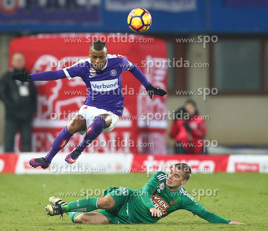 12.02.2017, Ernst Happel Stadion, Wien, AUT, 1. FBL, FK Austria Wien vs SK Rapid Wien, 21. Runde, im Bild Felipe Pires (FK Austria Wien) und Srdjan Grahovac (SK Rapid Wien) // during Austrian Football Bundesliga Match, 21st Round, between FK Austria Vienna and SK Rapid Vienna at the Ernst Happel Stadion, Vienna, Austria on 2017/02/12. EXPA Pictures © 2017, PhotoCredit: EXPA/ Thomas Haumer