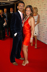 JADE JAGGER and MATTHEW WILLIAMSON at the Moet & Chandon Fashion Tribute 2005 to Matthew Williamson, held at Old Billingsgate, City of London on 16th February 2005.<br />