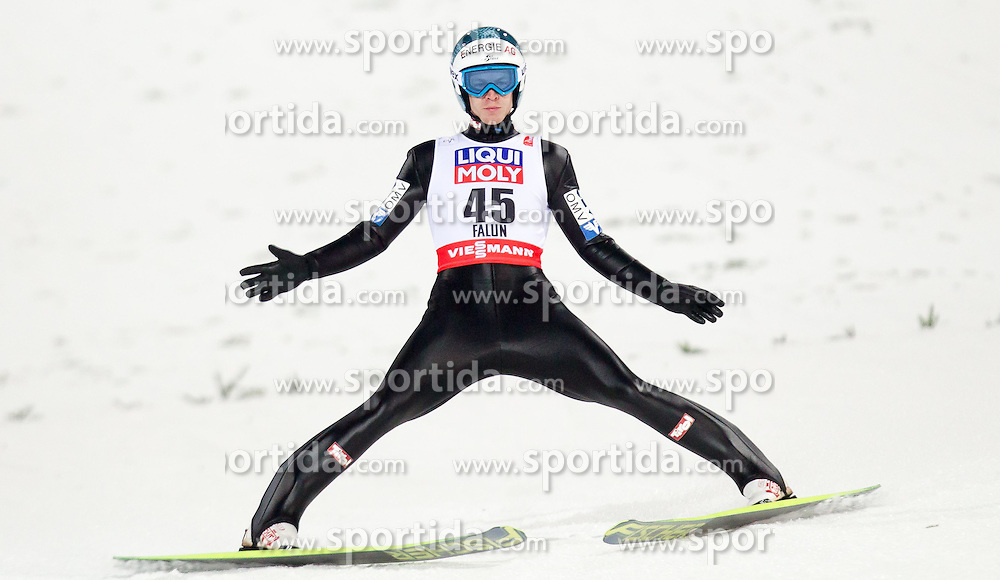 26.02.2015, Lugnet Ski Stadium, Falun, SWE, FIS Weltmeisterschaften Ski Nordisch, Skisprung, Herren, Finale, im Bild Michael Hayboeck (AUT) // Michael Hayboeck of Austria during the Mens Skijumping Final of the FIS Nordic Ski World Championships 2015 at the Lugnet Ski Stadium, Falun, Sweden on 2015/02/26. EXPA Pictures © 2015, PhotoCredit: EXPA/ JFK