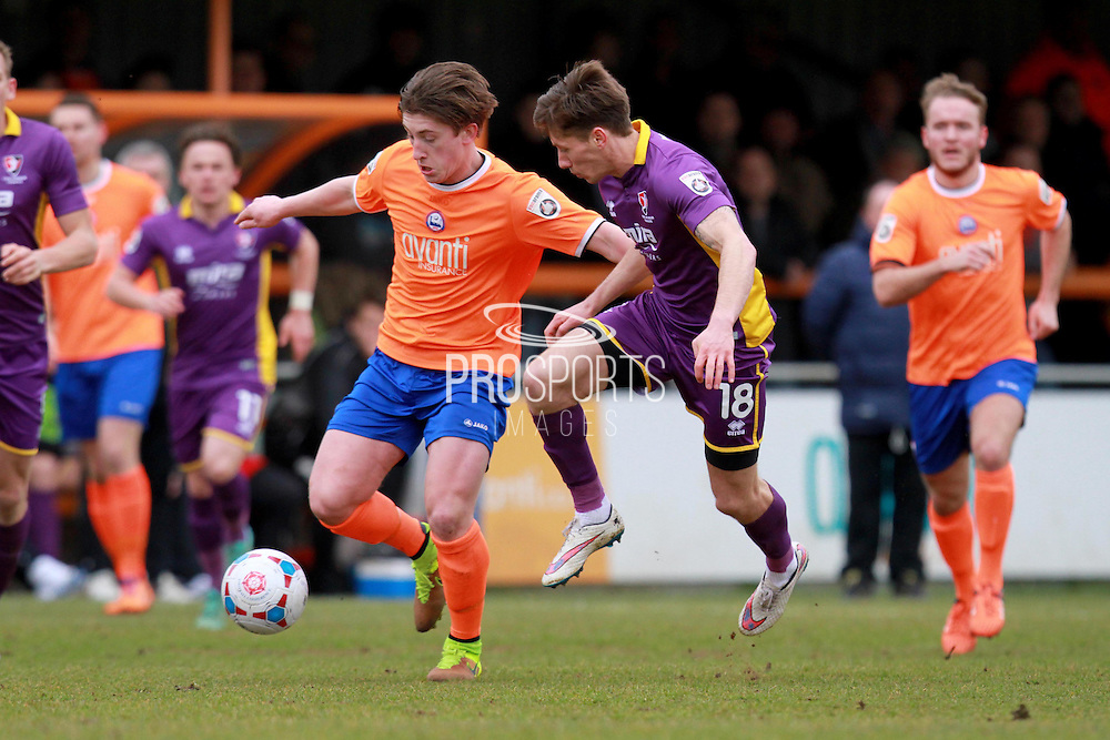 James Rowe during the Vanarama National League match between Braintree Town and Cheltenham Town at the Amlin Stadium, Braintree, United Kingdom on 19 March 2016. Photo by Carl Hewlett
