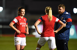 Bristol City Women players prepare to face Brighton and Hove Albion Ladies - Mandatory by-line: Paul Knight/JMP - 02/12/2017 - FOOTBALL - Stoke Gifford Stadium - Bristol, England - Bristol City Women v Brighton and Hove Albion Ladies - Continental Cup Group 2 South