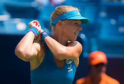 August 18, 2018 - Kiki Bertens of the Netherlands in action during the semi-final at the 2018 Western & Southern Open WTA Premier 5 tennis tournament. Cincinnati, Ohio, USA. August 18th 2018. (Credit Image: © AFP7 via ZUMA Wire)