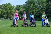 ENSCHEDE - Golfbaan Rijk van Sybrook met modellen/leden de baan in.  - COPYRIGHT KOEN SUYK