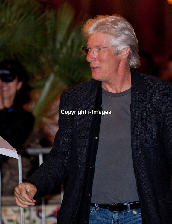 Richard Gere arriving at the San Sebastian International Film Festival, Thursday, 20th September 2012. Photo by : Nacho Lopez / DyD Fotografos / i-Images