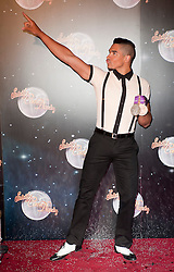 Louis Smith joins fellow Contestants as they line up for this years Strictly Come Dancing television show on BBC. Contestants will include Olympic medalist Victoria Pendleton, Tuesday September 11, 2012.Photo Andrew Parsons/i-Images
