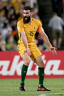 SYDNEY, NSW- NOVEMBER 15: Australian Mile Jedinak (15) unhappy with the call at the Soccer World Cup Qualifier between Australia and Honduras on November 10, 2017. (Photo by Steven Markham/Icon Sportswire)