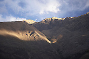View out the window of the Cusco-Machu Picchu train.Peru