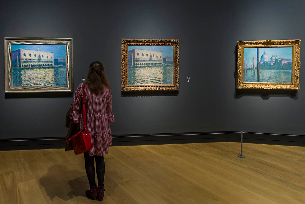 The Doges Palace, 1908, and other Venice paintings - The Credit Suisse Exhibition: Monet & Architecture a new exhibition in the Sainsbury Wing at The National Gallery.
