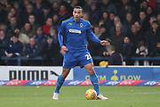 AFC Wimbledon defender Rod McDonald (26) dribbling during the EFL Sky Bet League 1 match between AFC Wimbledon and Southend United at the Cherry Red Records Stadium, Kingston, England on 24 November 2018.