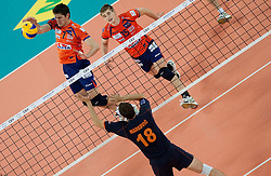 Matevz Kamnik of ACH during volleyball match between ACH Volley (SLO) and Budvanska Rivijera (MNE) in 2nd Round of 2011 CEV Champions League, on November 24, 2010 in Arena Stozice, Ljubljana, Slovenia. (Photo By Vid Ponikvar / Sportida.com)