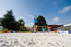 Norway men's team in practice at CEV European Continental Beach Volleyball Cup for Olympic Qualification, on September 3, 2010, in Zrece, Slovenia. (Photo by Matic Klansek Velej / Sportida)