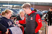 Middlesbrough midfielder Grant Leadbitter (7) arrives  during the EFL Sky Bet Championship match between Middlesbrough and Sheffield Wednesday at the Riverside Stadium, Middlesbrough, England on 26 December 2018.