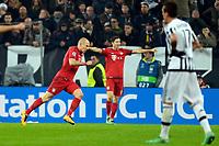 Esultanza Gol Arjen Robben Bayern. Goal celebration <br /> Torino 23-02-2016 Juventus Stadium, Football Champions League 2015/2016 Round of 16 Juventus - Bayern Munich / Juventus - Bayern Monaco .  Foto Filippo Alfero / Insidefoto