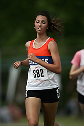 Hamilton, Ontario ---07/06/08--- Rachel Islam of Innisdale in Barrie competes in the 3000 meters at the 2008 OFSAA Track and Field meet in Hamilton, Ontario..GEOFF ROBINS