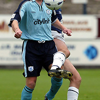 Falkirk v St Johnstone..  28.09.02<br />Chris Hay and Steven Rennie<br /><br />Pic by Graeme Hart<br />Copyright Perthshire Picture Agency<br />Tel: 01738 623350 / 07990 594431