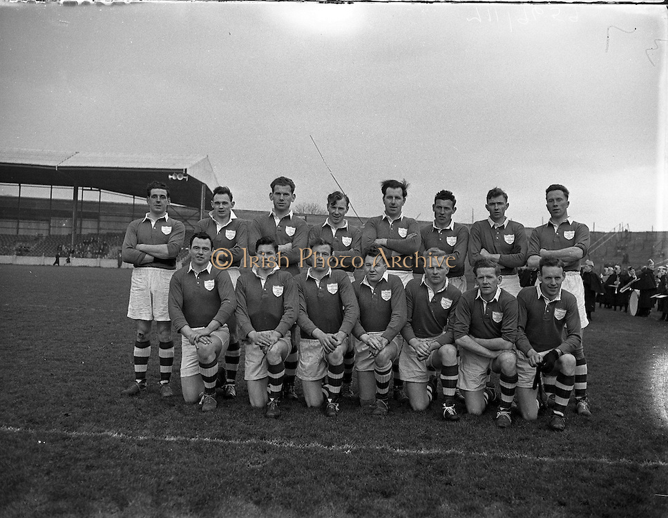 Combined Universities and The Rest v Ireland at Croke Park.  Ireland Team..06.03.1955