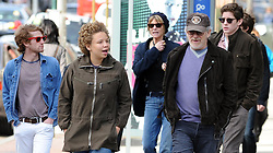 ©2010 RAMEY PHOTO 310-828-3445<br /> <br /> Director Steven Spielberg and his family leave the restaurant 'Bar Piti', in New York, NY, on April 3, 2010.<br /> <br /> CAU-CG (Mega Agency TagID: MEGAR107602_9.jpg) [Photo via Mega Agency]