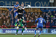 \Darius Charles defender for AFC Wimbledon (32) in action during the Sky Bet League 2 match between AFC Wimbledon and Portsmouth at the Cherry Red Records Stadium, Kingston, England on 26 April 2016. Photo by Stuart Butcher.