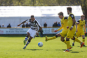 Forest Green Rovers Keanu Marsh-Brown(7) passes the ball forward during the Vanarama National League match between Southport and Forest Green Rovers at the Merseyrail Community Stadium, Southport, United Kingdom on 17 April 2017. Photo by Shane Healey.