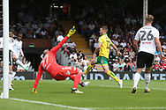 Marley Watkins of Norwich goes close during the Sky Bet Championship match at Craven Cottage, London<br /> Picture by Paul Chesterton/Focus Images Ltd +44 7904 640267<br /> 05/08/2017