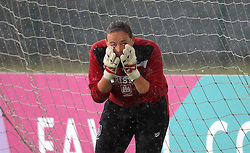 Hannah Reid goalkeeper for Bristol City Women tries to get rain water out of her eyes - Mandatory by-line: Robbie Stephenson/JMP - 25/06/2016 - FOOTBALL - Stoke Gifford Stadium - Bristol, England - Bristol City Women v Oxford United Women - FA Women's Super League 2