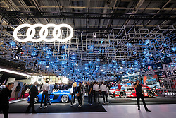 View of Audi stand at Paris Motor Show 2016