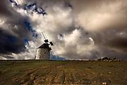 Lanzarote volcanic  Canary Island , Spain on Atlantic Ocean in January Photo Piotr Gesicki Furteventura Canary Island on Atlantic Ocean ( Spain ) Traditional 600 years old Wind mill Photo Piotr Gesicki