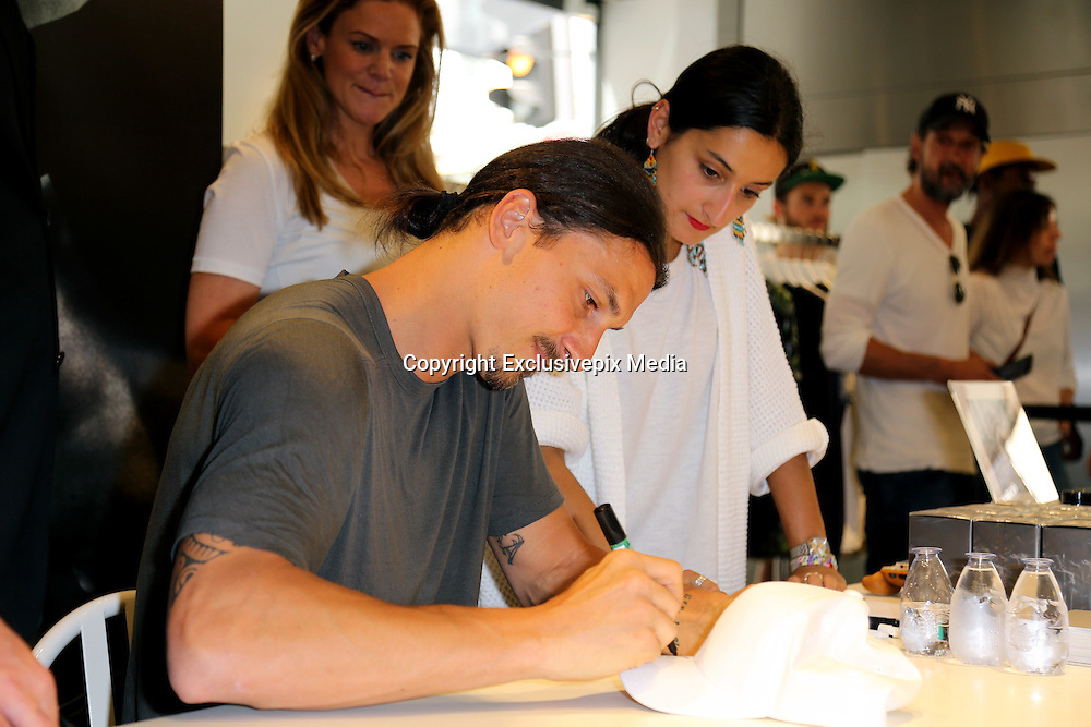 ZLATAN IBRAHIMOVIC in Paris for his eagerly-awaited first fragrance, which he has imaginatively named after himself.<br /> &copy;Exclusivepix Media