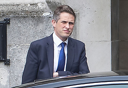 © Licensed to London News Pictures. 01/05/2019. London, UK. Defence Secretary Gavin Williamson is seen in New Palace Yard at Parliament before it was announced that he has been sacked in connection with the leaking of information from the National Security Council meeting discussing Huawei's limited access to help build the UK's new 5G network. Photo credit: Peter Macdiarmid/LNP