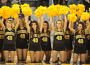 Dec 3, 2009; Long Beach, CA, USA; Cheerleaders of the Long Beach State 49ers watch during the game against the Southern California Trojans at the Walter Pyramid. USC defeated Long Beach State 83-77.