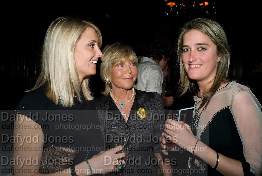LADY EMILY COMPTON; ROSIE MARCHIONESS OF NORTHAMPTON; VIOLET VON WESTENHOLZ. The Tatler Little Black Book party. Tramp. 40 Jermyn St. London SW1 *** Local Caption *** -DO NOT ARCHIVE-© Copyright Photograph by Dafydd Jones. 248 Clapham Rd. London SW9 0PZ. Tel 0207 820 0771. www.dafjones.com.