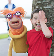 07/09/2015 repro free   Donnacha Carew (aged 6) with Puppet Rib&iacute;n from Saol Faoi Shr&aacute;id, F&iacute;b&iacute;n Theatre Company to announce the 19th Babor&oacute; International Arts Festival for Children which takes place in Galway from October 12 - 18. This year&rsquo;s festival offers a creative extravaganza for all ages and a journey for the heart and soul. With seven days of theatre, puppetry, dance, music, animation, exhibitions and workshops, the festival will enthrall young and old alike. http://baboro.ie<br /> Photo:Andrew Downes, xposure.<br /> <br /> ( F&iacute;b&iacute;n Theatre Company&rsquo;s show Saol Faoi Shr&aacute;id which is part of the the 2015 Babor&oacute; Festival).
