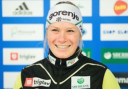 Nika Razinger during official presentation of the outfits of the Slovenian Ski Teams before new season 2015/16, on October 6, 2015 in Kulinarika Jezersek, Sora, Slovenia. Photo by Vid Ponikvar / Sportida