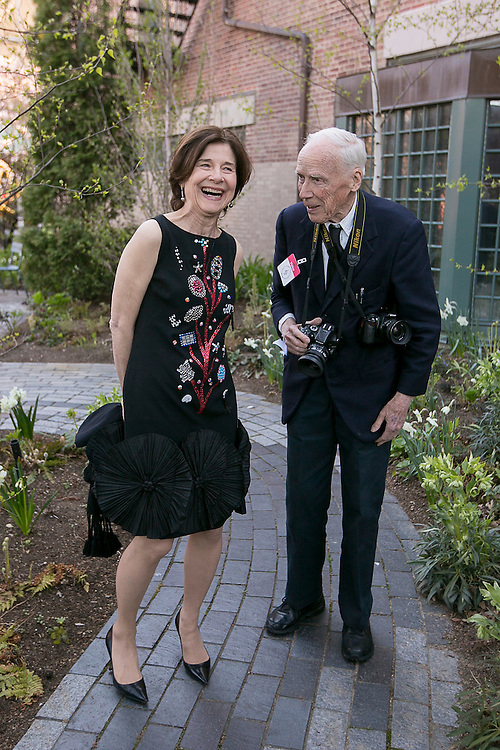 May 2, 2015, Boston, MA:<br /> Anne Hawley and Bill Cunningham attend the 2015 Gardner Gala at the Isabella Stewart Gardner Museum in Boston, Massachusetts Saturday, May 2, 2015.<br /> (Photos by Billie Weiss/Isabella Stewart Gardner Museum)
