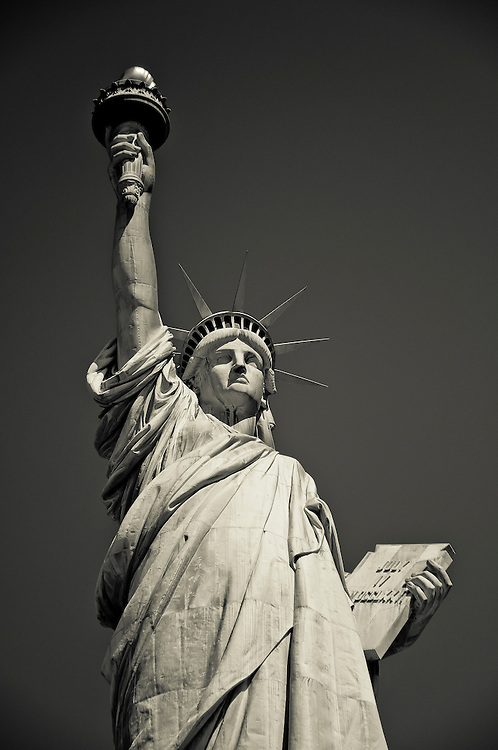Close picture of the Statue of Liberty, liberty island, New York, 2010.