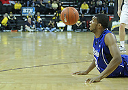 December 17, 2011: Drake Bulldogs forward Kraidon Woods (22) eyes a lose ball during the the NCAA basketball game between the Drake Bulldogs and the Iowa Hawkeyes at Carver-Hawkeye Arena in Iowa City, Iowa on Saturday, December 17, 2011. Iowa defeated Drake 82-68.