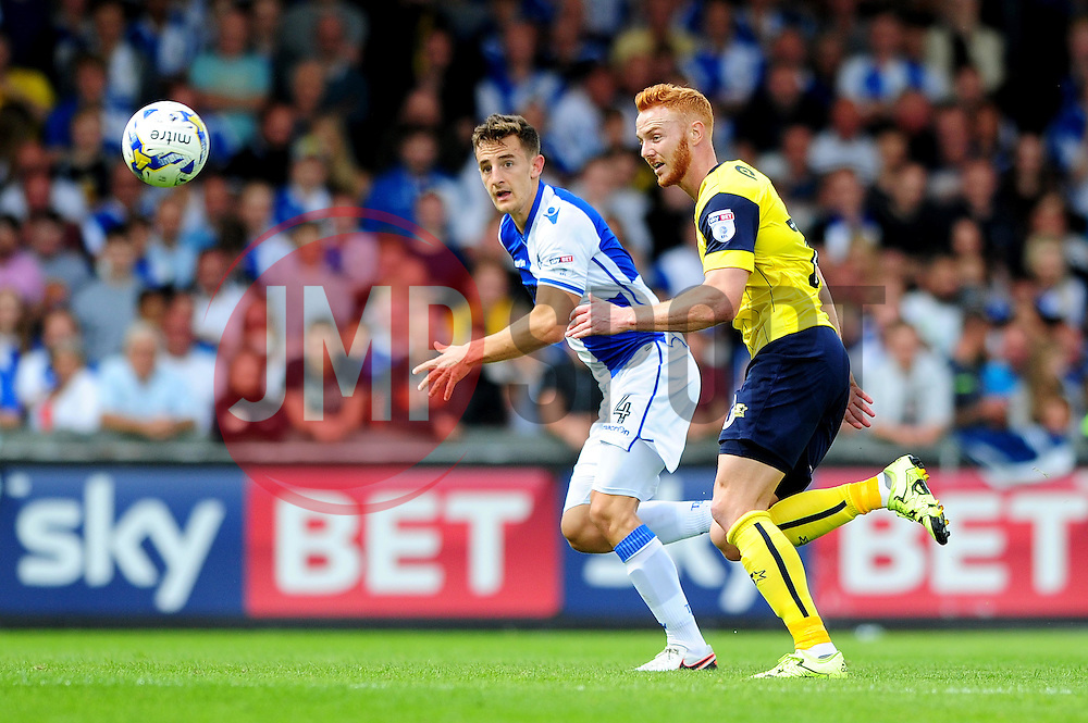 Tom Lockyer of Bristol Rovers is chased down by Ryan Taylor of Oxford United - Mandatory by-line: Dougie Allward/JMP - 14/08/2016 - FOOTBALL - Memorial Stadium - Bristol, England - Bristol Rovers v Oxford United - Sky Bet League One