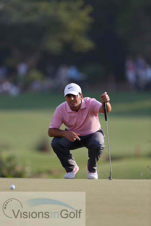 Francesco Molinari<br /> during the second round of the Race To Dubai DP World Tour Golf Championship, Dubai, UAE November  2013<br /> Picture Credit:  Mark Newcombe / www.visionsingolf.com
