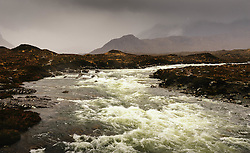 The River Sligachan in flood during torrential rain, Isle of Skye, Scotland<br /> <br /> (c) Andrew Wilson | Edinburgh Elite media