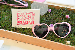 Atmosphere & branding at a ladies Valentine's Breakfast to launch the new healthy food menu at royal favourite restaurant Bumpkin, 119 Sydney Street, London on 14th February 2014.