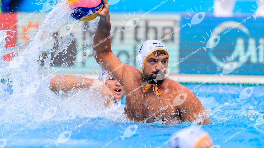 Darko Brguljan of Montenegro<br /> Montenegro (white cap) -  Greece (blue cap)<br /> Quarterfinal  Round Water Polo Man<br /> Day12  25/07/2017 <br /> XVII FINA World Championships Aquatics<br /> Alfred Hajos Complex Margaret Island  <br /> Budapest Hungary <br /> Photo @Deepbluemedia/Insidefoto Photo @Marcelterbals/Deepbluemedia/Insidefoto