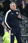 Martin Kuhl stand in manager of Rotherham go 1-0 up during the Sky Bet Championship match between Hull City and Reading at the KC Stadium, Kingston upon Hull, England on 16 December 2015. Photo by Ian Lyall.