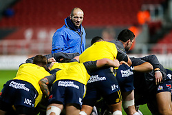 Bristol Rugby forwards coach Steve Borthwick oversees the warm up - Mandatory byline: Rogan Thomson/JMP - 11/12/2015 - RUGBY UNION - Ashton Gate Stadium - Bristol, England - Bristol Rugby v Bedford Blues - B&I Cup.