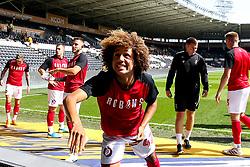 Han-Noah Massengo of Bristol City throws a shirt - Mandatory by-line: Robbie Stephenson/JMP - 24/08/2019 - FOOTBALL - KCOM Stadium - Hull, England - Hull City v Bristol City - Sky Bet Championship