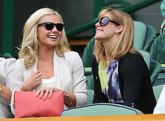JULY 02 2013 Katherine Jenkins and Darcey Bussell at Wimbledon